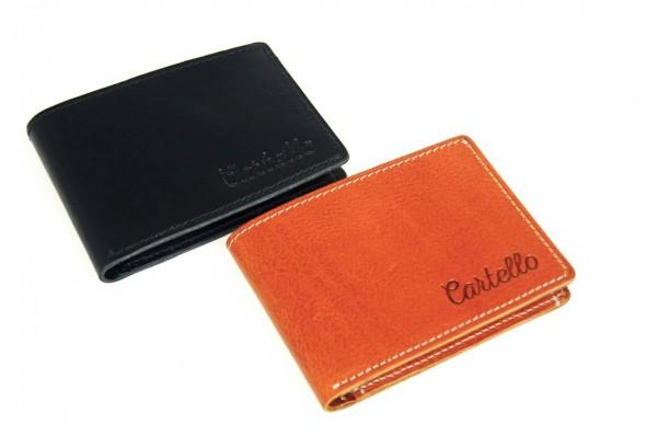 Cartello mały skórzany portfel męski M033
