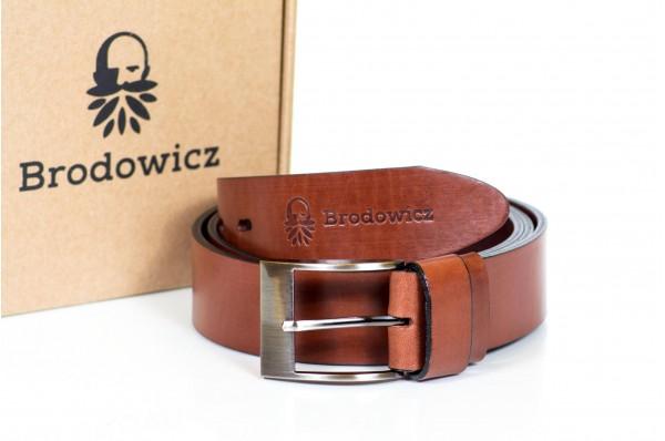 Skórzany szeroki pasek Brodowicz B-0040