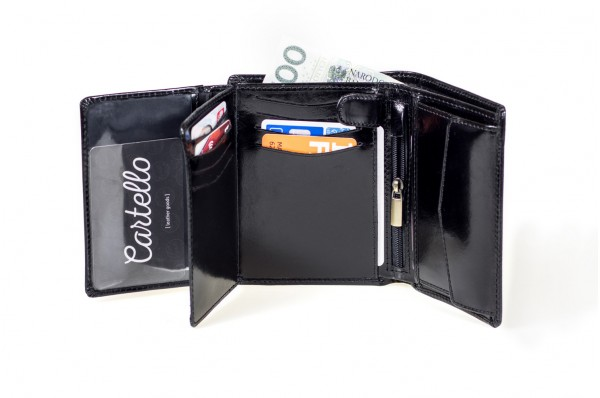 Cartello skórzany portfel męski M210