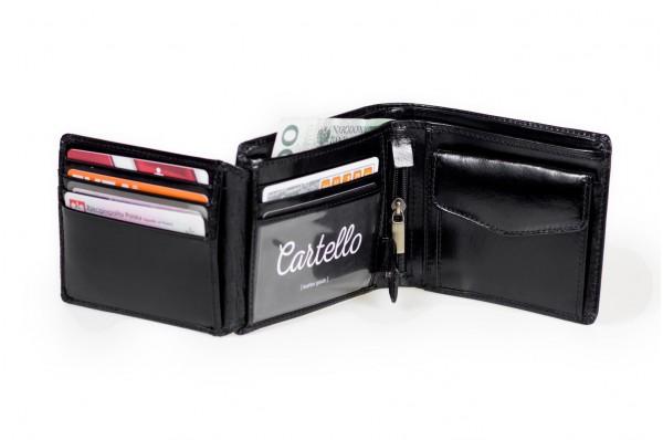 Skórzany portfel męski Cartello 005