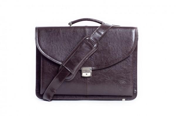 Cartello skórzana torba na laptopa z paskiem Francesko 01