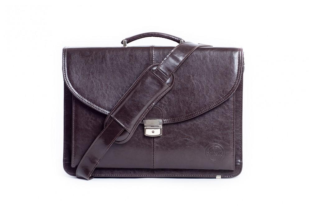 4d970ba48aab9 Cartello skórzana torba na laptopa z paskiem Francesko 01 - TECZKI.net