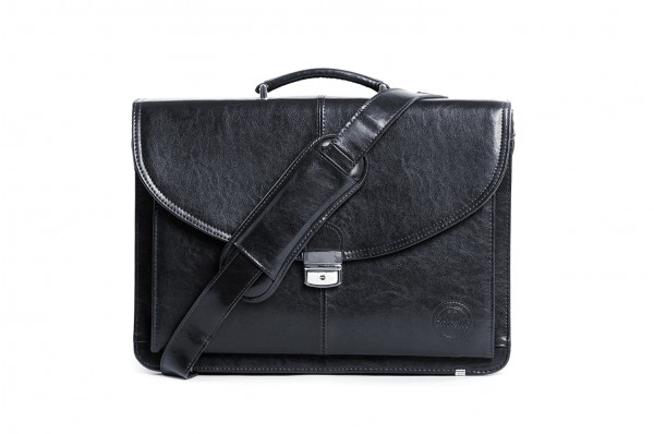 Skórzana torba na laptopa z paskiem Cartello Francesko 01