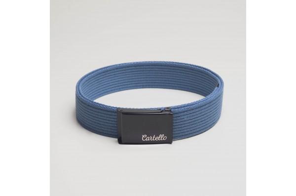 Pasek parciany bawełniany Cartello PB09 kolor jasno niebieski