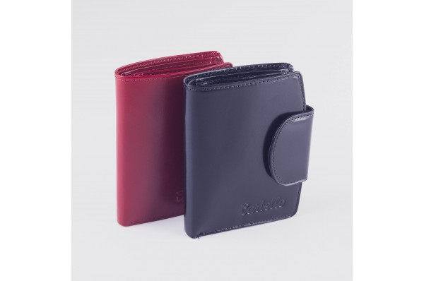 Cartello skórzany portfel damski D300