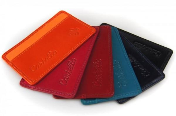Cartello skórzane etui na kartę kredytową z ID Protect System