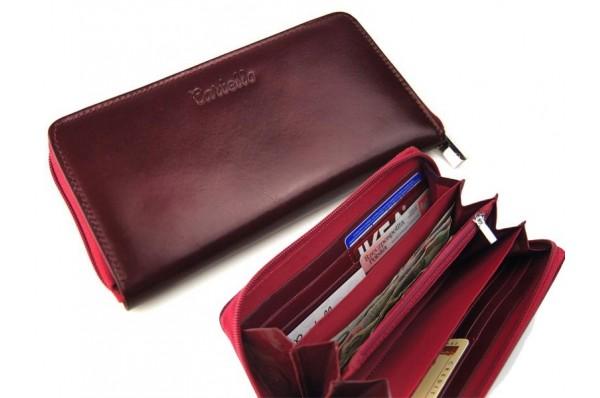 Cartello skórzany portfel damski na zamek D271