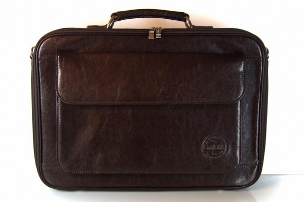 Cartello skórzana torba na laptopa z paskiem Francesko 04