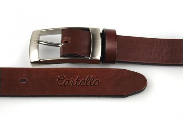 Skórzany, klasyczny pasek Cartello P-0130