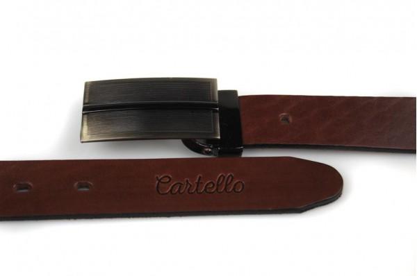 Skórzany, elegancki pasek Cartello P-0430