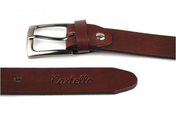 Skórzany, klasyczny pasek Cartello P-0630