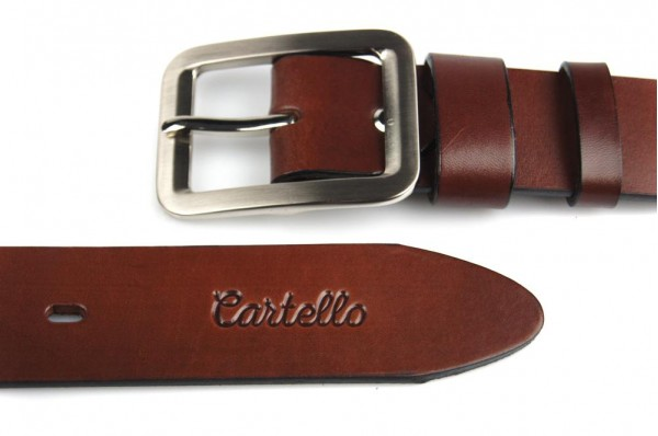 Skórzany, klasyczny pasek Cartello P-0140